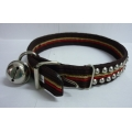 Pet Collar Nylon with Double Studs (Brown)